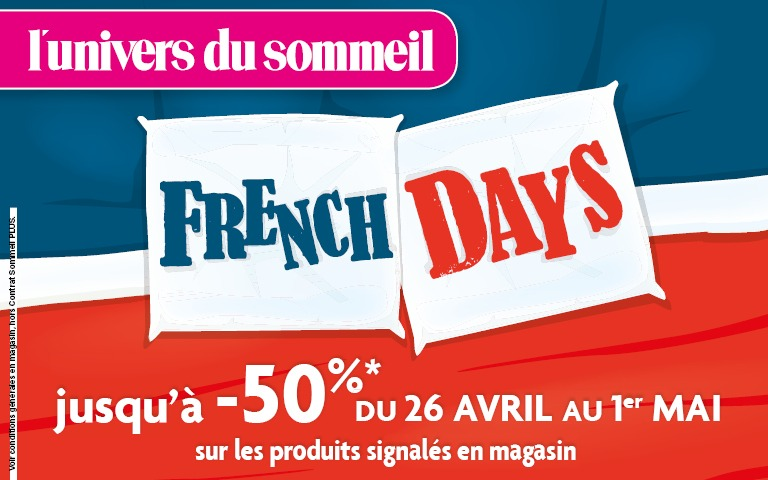 French Days l-univers du sommeil - Promotion